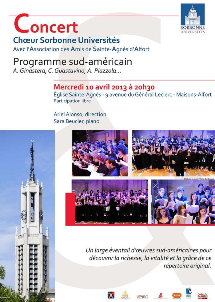 affiche Choeur Sorbonne