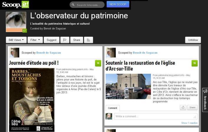 Scoop it - l'observateur du patrimoine