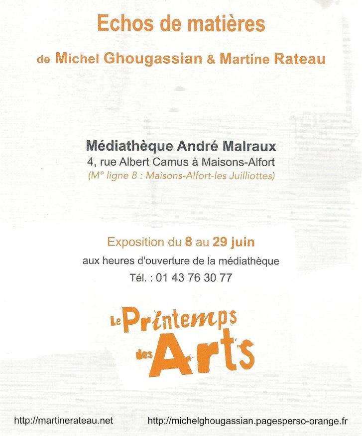 Texte Printemps des arts 2013