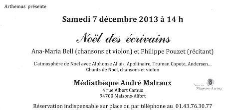 Noel des écrivains 2013.12.07
