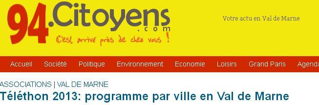 Téléthon 2013 en Val-de-Marne