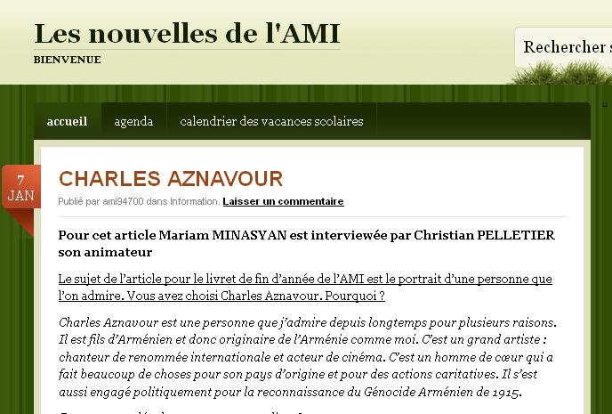 AMI 2014 Charles AZNAVOUR