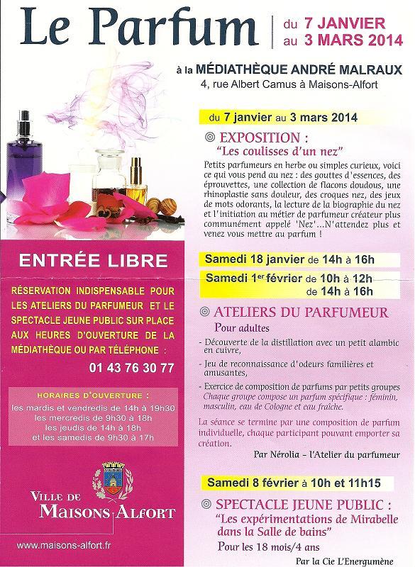 Parfums Médiathèque Janvier 2014