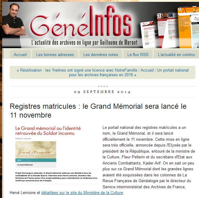 Grand Memorial 11 novembre