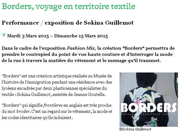 Borders, voyage en territoire textile