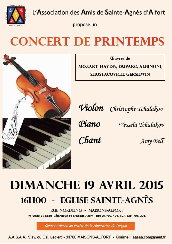 Concert de Printemps 19 avril