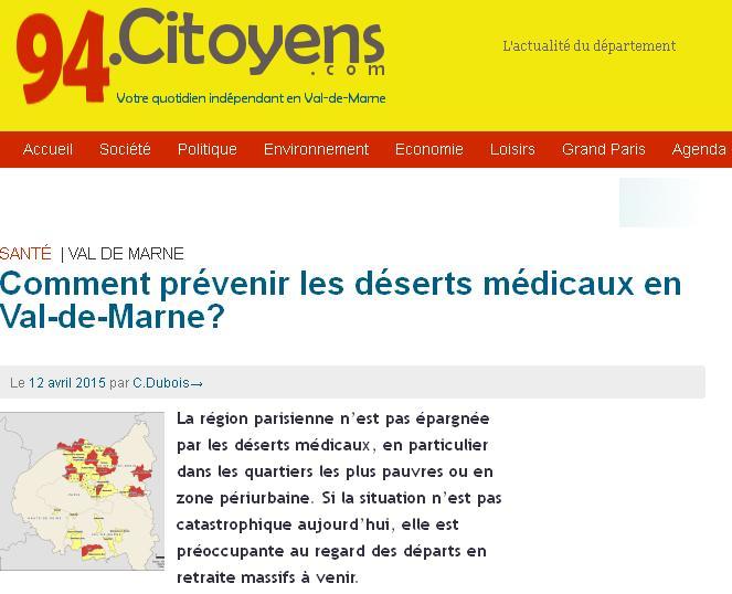 94 déserts Médicaux