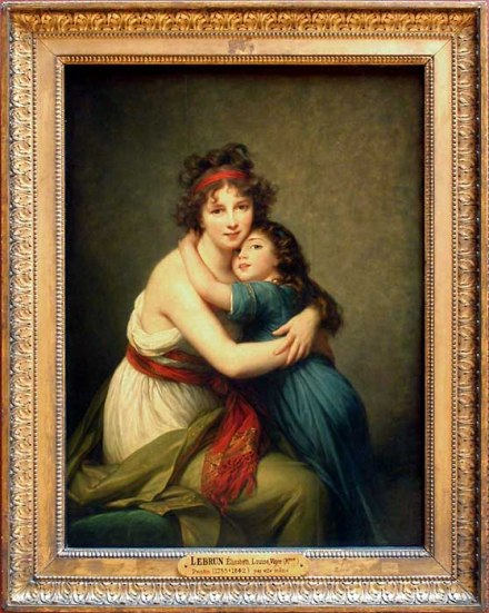 Mme Vigée-Lebrun et sa fille_peinture_tendresse beauté