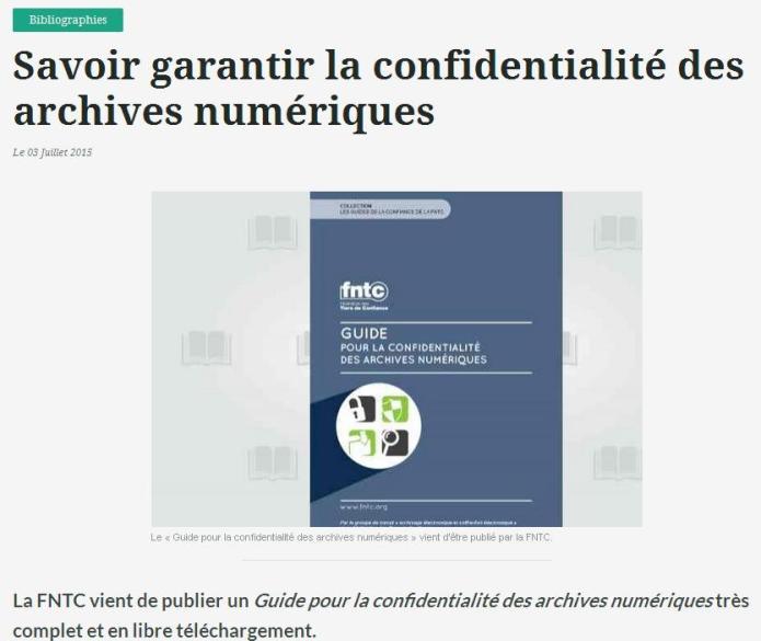 Confidentialité des archives numériques