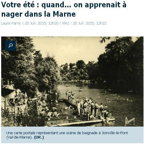 Nager dans la Marne
