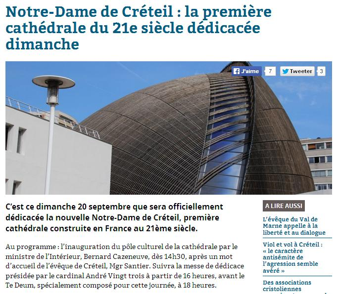Cathédrale de Créteil le 20-09-2015