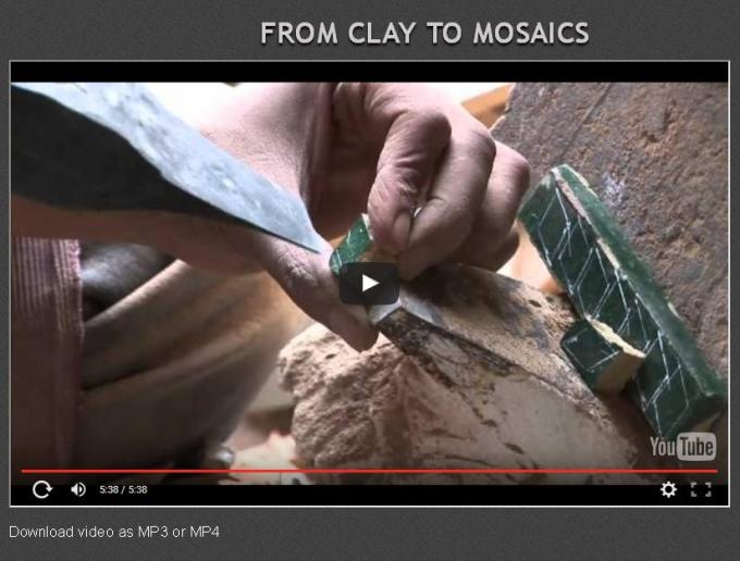 From clay to mosaics