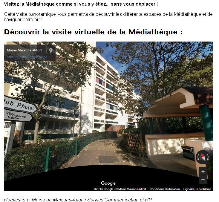 Médiathèque Visite