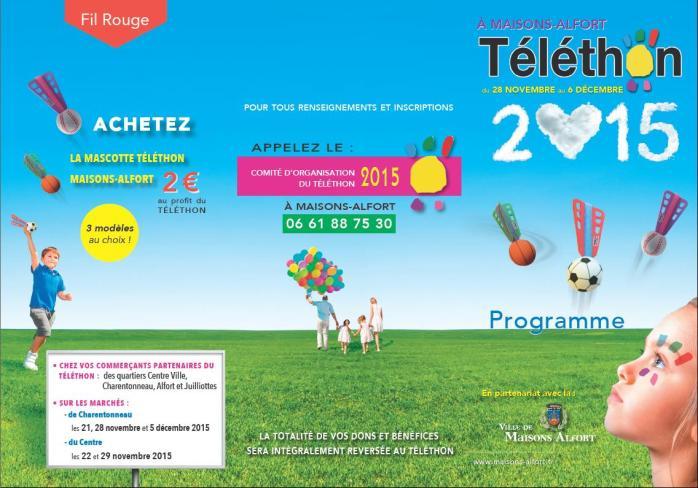 Téléthon 28 nov au 6 déc 2015 Affiche