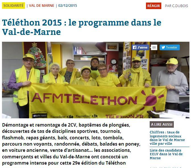 Téléthon 2015  VDM