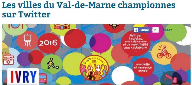 Twitter en Val-de-Marne