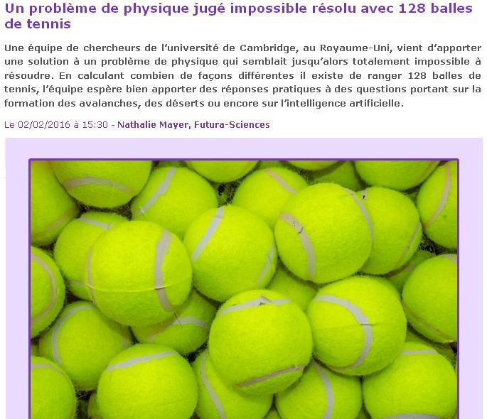 Physique 128 balles
