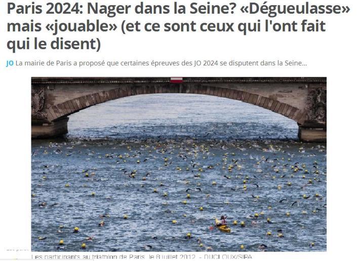 2024 nager dans la Seine