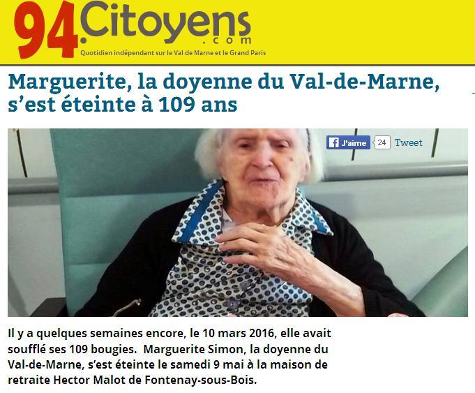 Doyenne VDM 109 ans