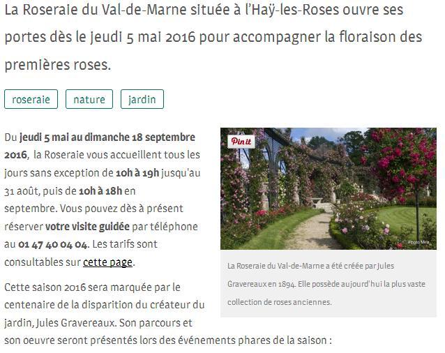 Roseraie VDM portes ouvertes le 5 mai