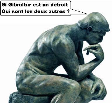 Si Gibraltar est un détroit