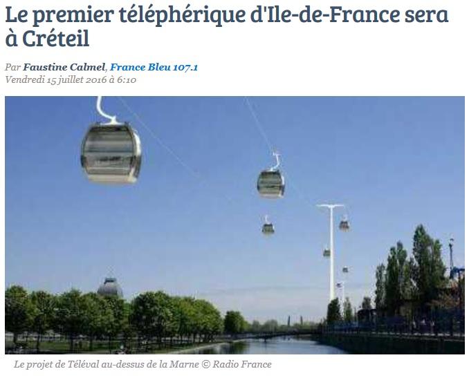Téléphérique à Créteil