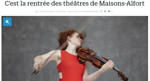 Rentrée 2016 Théâtres Maisonnais